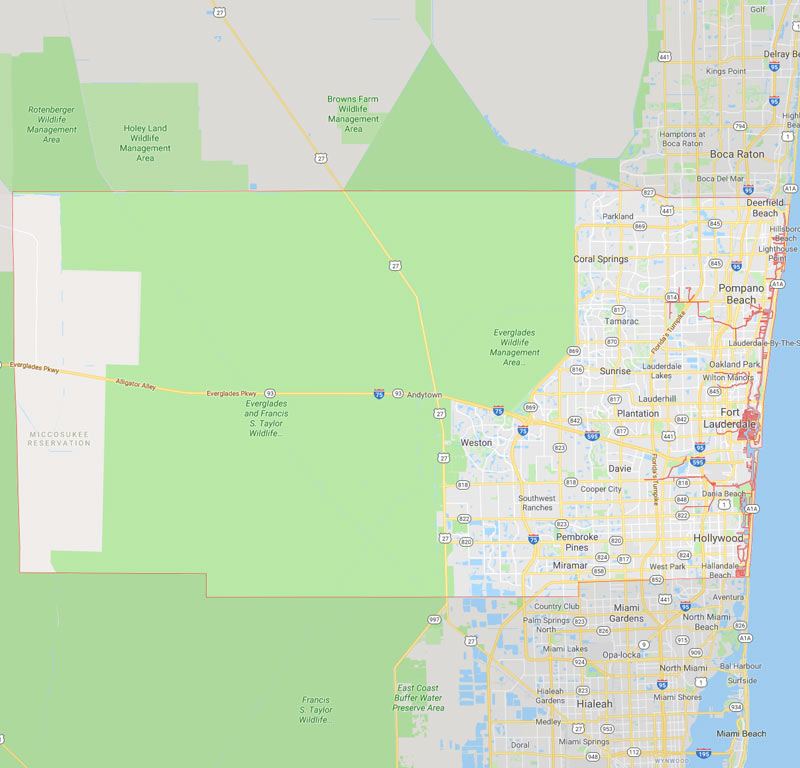 Broward County Projects Map | Florida | Stiles-Sowers Construction, Inc