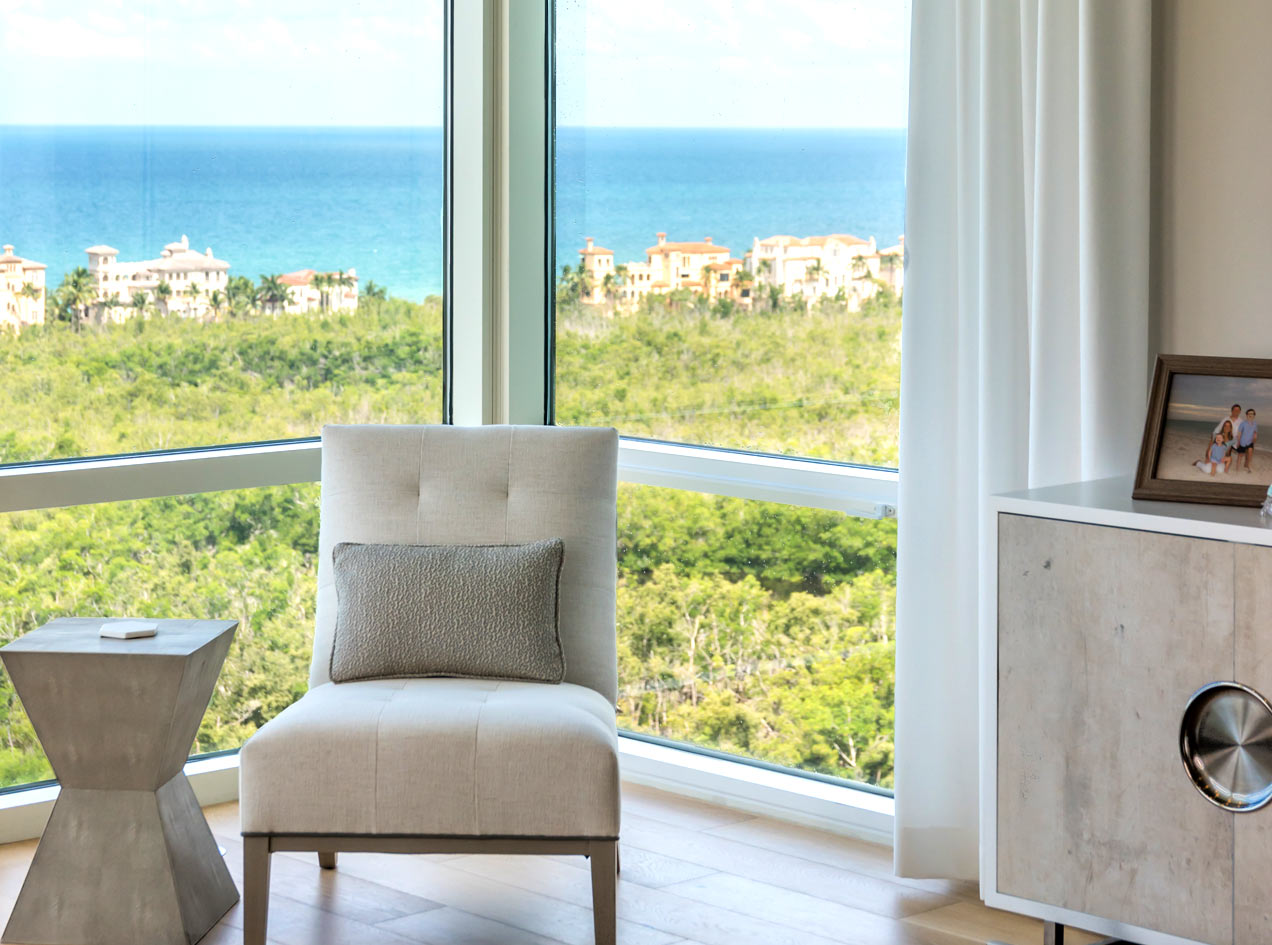 Corner Seat with Panoramic Ocean View | Naples, Florida | Stiles-Sowers Construction, Inc